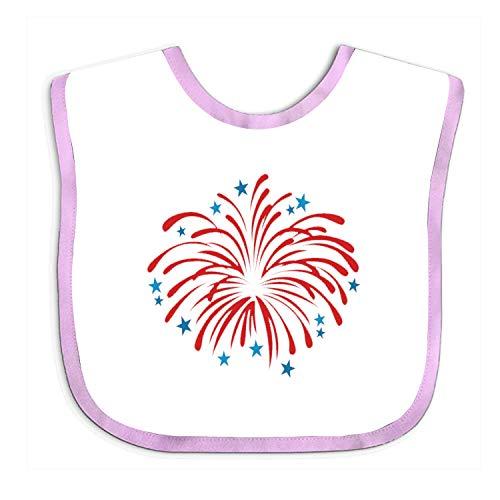Soft To Celebrate The Fireworks Baby bibs - Cute Cloth Baby Bib, Toddler Bib (Detail Elodie Bib)