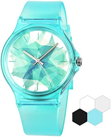 Zeiger Kids Watch Teen Girls Student Children Young Girls Ages 11-15 7-10 Watch with Silicon Soft Band (Turquoise)