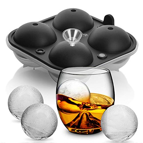 Ice Ball Tray, VSTYLE Silicone Ice Cube Tray Round Ice Mold 2
