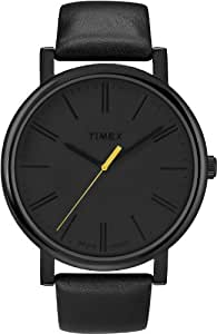 Timex Original - Reloj analógico de cuarzo unisex con correa de piel, color negro