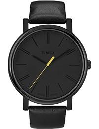 Timex Men's Easy Reader T2N793 Black Leather Quartz Watch