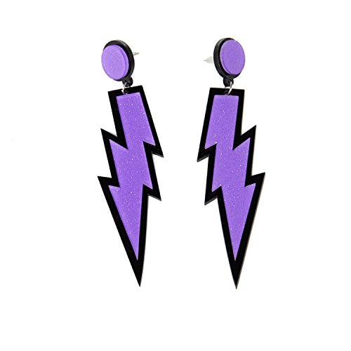 ZeroShop Women Fashion Retro Neon Lightning Earrings