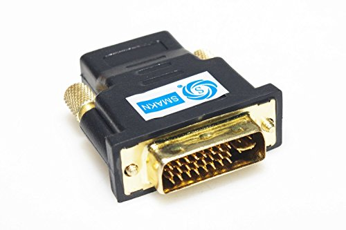 SMAKN® DVI-I Dual-Link 24+5 Male to HDMI Female (Dvi Female Analog)