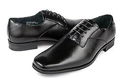 Ferro Aldo Men Formal Black Plain Toe Dress Shoes Lace up Oxfords (10.5)