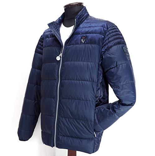 40506 秋冬 薄手 ダウン ブルゾン ネイビー(紺) サイズ 52(3L) CAPRI カプリ 紳士服 メンズ 男性用
