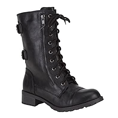 Womens Dome Combat Boots