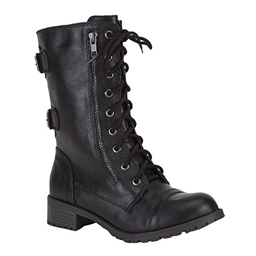 Soda Womens Dome Combat Boots product image