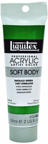 Liquitex Professional Soft Body Acrylic Paint 2-oz tube, Emerald Green