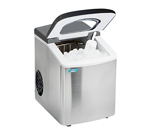 Mr. Freeze MIM-18 Maxi-Matic Portable Ice Maker with Lid, Black (Stainless Steel) by Mr. Freeze