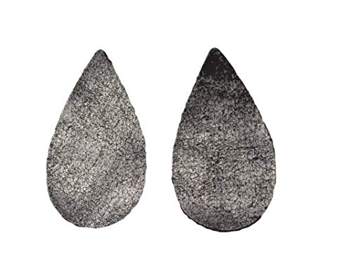 12pk-Leather Teardrop Large Die Cut Back in Black