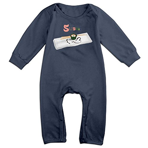 I LOVE Sushi Long Sleeve Outfits For 0-24 Months Navy 18 - First Usps Australia To Class International Time