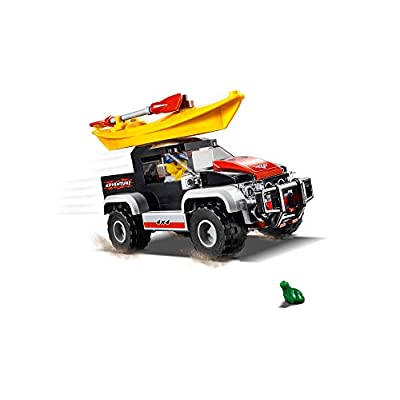 LEGO City Great Vehicles Kayak Adventure 60240 Building Kit (84 Pieces): Toys & Games