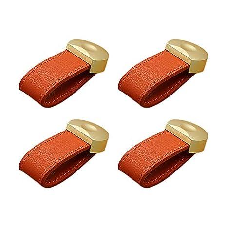 36 Hacoly 4 pi/èces Monotrou Poign/ées B/âton De Porte Envoyer 25mm vis poign/ées de Meubles Parfait pour la Maison et Les armoires Porte Poign/ées Cuir 13mm Rouge 80