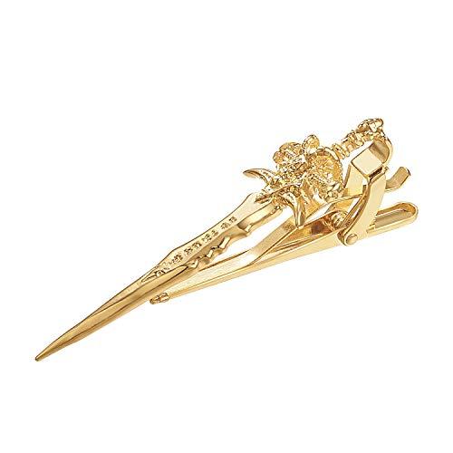 Yoursfs Vintage Sword Tie Clip Gold Tone Sword Tie Clip - Knife Tie Clip - Long Tie Clip - Knife Tie Clips - Sword Tie Clip - Hunting Tie Clip - Gifts