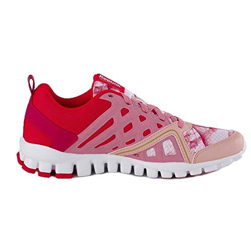 Reebok REALFLEX TRAIN WOW-Scarpe running da donna, colore: rosa