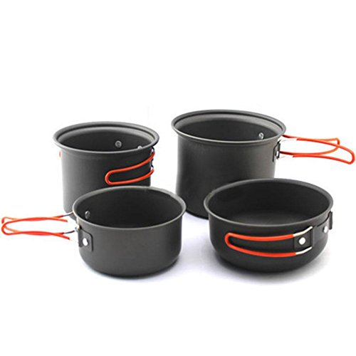 Qike Outdoor tableware supplies pot cooking set cooking utensils camping picnic pot for 2-3 people