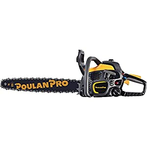 Poulan Pro 967061501 50cc 2 Stroke Gas Powered Chain Saw with Carrying Case, 20""