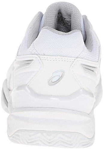 Resolution 6 Tennis Gel White Women's Silver Shoe Clay Court Asics F1UExc