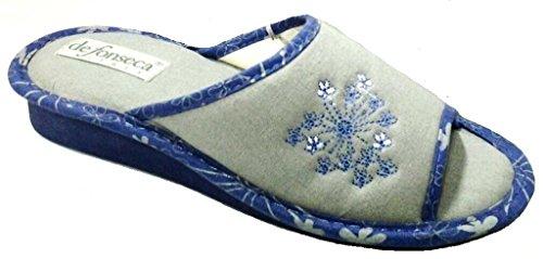 DE FONSECA ciabatte pantofole da donna cotone mod. TERNI W147 GRIGIO