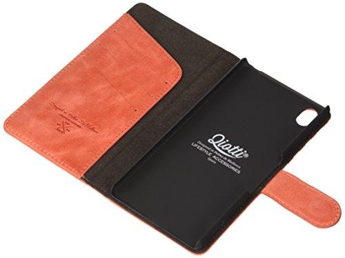 QIOTTI QX-B-0110-04-SXZ4 Booklet Q.Book Denim Premium Echtleder für Sony Xperia Z4 rot