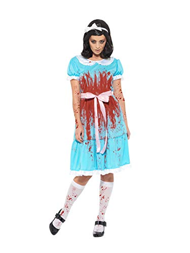 The Shining Twins Halloween Costumes Dress - Smiffy's Bloody Murderous Twin Adult