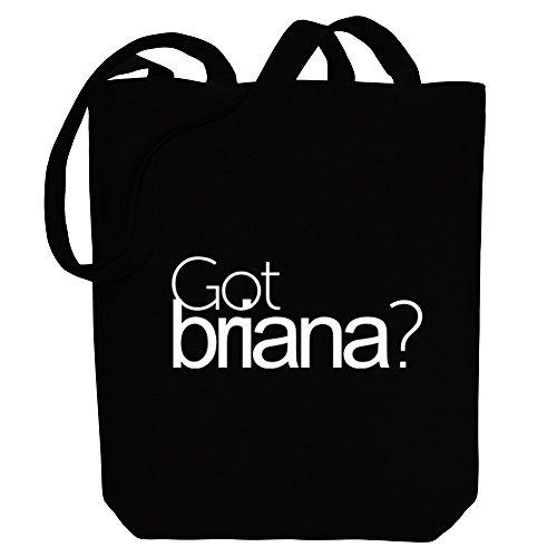 ? - Female Names - Canvas Tote Bag (Briana Tote)