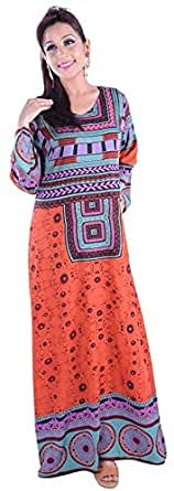 Click on Style Orange Party Jalabiya For Women