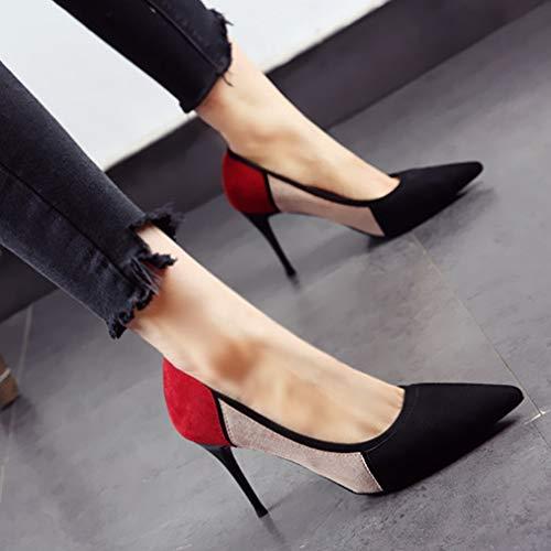 Zapatos Calzan Aguja Empareja Las Acentuados Solo A se Temperamento Trabajo de de del de Zapatos señoras Los los Tacones Forman Que de el Color YMFIE Boda wt7Rq6UIR