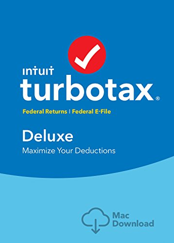 Turbotax Deluxe Tax Software 2017 Fed   Efile Mac Download  Amazon Exclusive