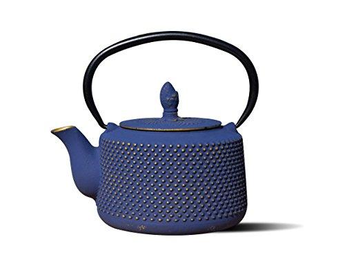 cast iron blue teapot - 5