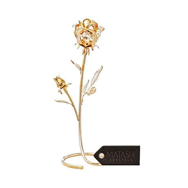 Matashi-Everlasting-Rose-Flower-Tabletop-Ornament-Metal-Decorative-Home-Dcor-Gift-for-Christmas-New-Year-Valentines-Day-Anniversary-Birthday-and-More