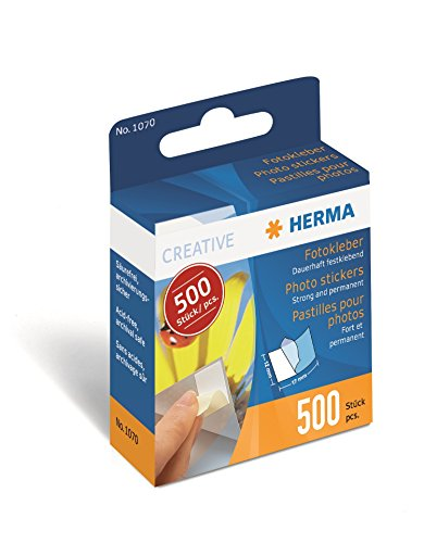 Herma 1070 Fotokleber (Kartonspender) 500 Stück, weiß