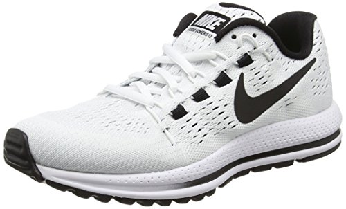 Nike Womens Air Zoom Vomero 12 Running Shoe, White/Black-Pure Platinum, 8.5
