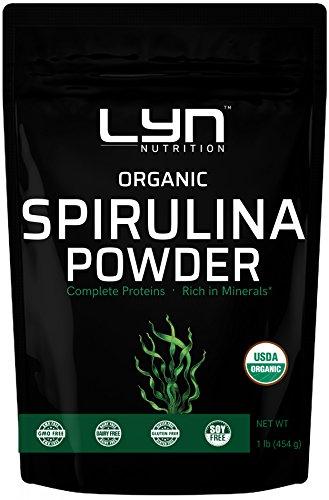 Premium Organic Spirulina Powder 1 Pound, Non-GMO, Non-Irradiation, Non-Contaminated, No Preservatives, Rich in Amino Acids, Minerals, Chlorophyll