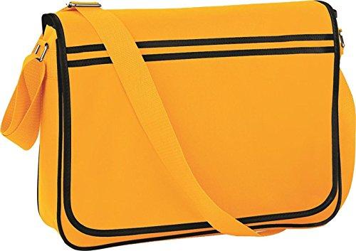 New Retro bolso bandolera para ajustable para el hombro y BagBase con media cremallera de bolsa de transporte bolsillo para tarjeta de zonas de Gold/Black