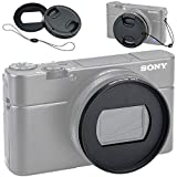 JJC Dedicated Metal Filter Adapter Lens Adapter for Sony RX100 VI / RX100M6 Installing 52mm UV CPL ND Filter (Fits RX100 Mark VI Only), Includes 52mm Snap-On Lens Cap & Cap Keeper String