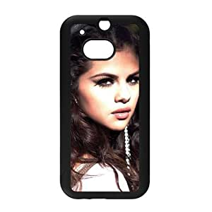 Pop Singer&Selena Gomez Background Case Cover for HTC One M8 - Hard PC Back&4 sides TPU Protective Case Shell-Perfect as gift