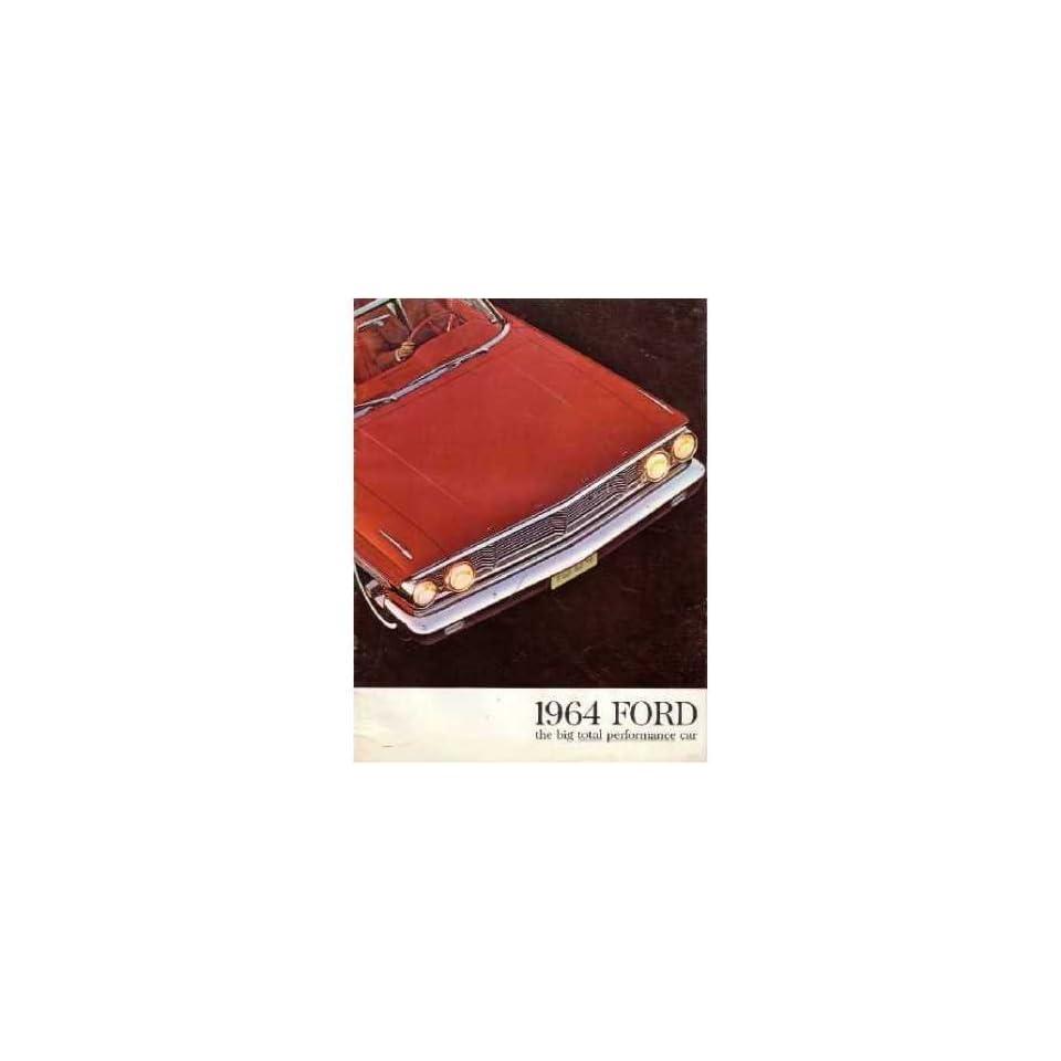 1964 FORD GALAXIE Sales Brochure Literature Book Piece