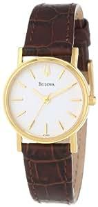 Bulova Women's 97L102 Strap White Dial Watch