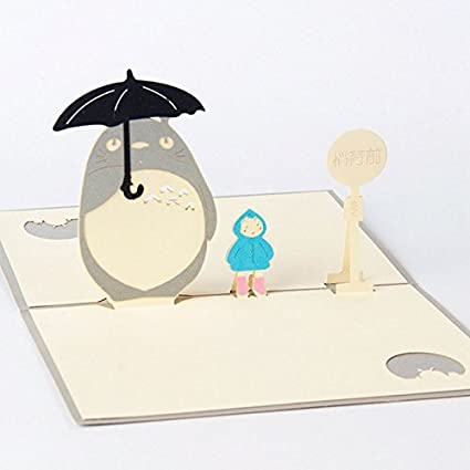 Amazon Poity 3d Pop Up Cards My Neighbour Totoro Greeting