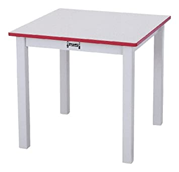 Square Table   12u0026quot; High   Red   School U0026 Play Furniture