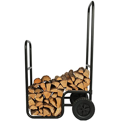 1.Go Firewood Carrier Wood Mover Hauler, Rolling Firewood Cart by 1.Go