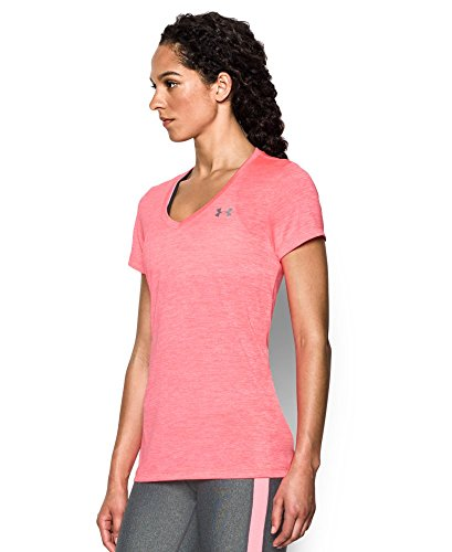 Under Armour Women's Tech Twist V-Neck, Brilliance/Metallic Silver, X-Small by Under Armour (Image #2)