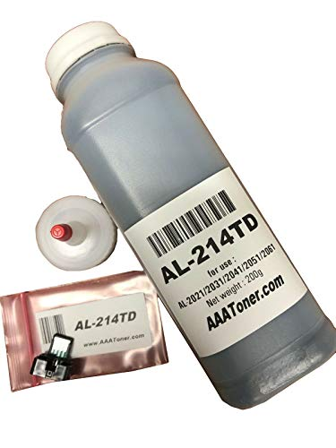 AAA Toner Refill Kit for Sharp AL-2051, AL-2061 Copier + 1 Chip (AL-214TD) (200g, Black)