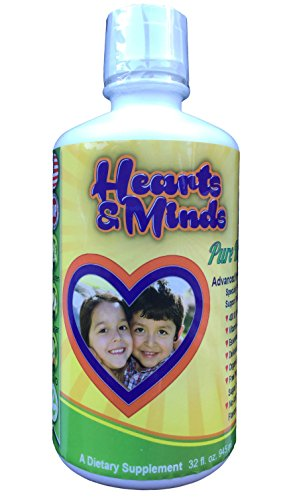 Kids Multi Vitamin and Mineral Wholefood Dietary Supplement with Antioxidants, Digestive Health Blend, Fruits & Greens - Organic, Vegetarian, Non GMO, Sugar and Gluten Free - Delicious Liquid (32 oz) from Hearts and Minds Pure Health