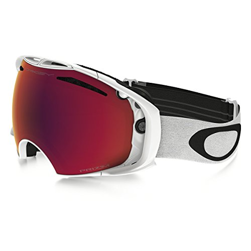 Oakley Airbrake (A) Snow Goggles, Polished White, Prizm Torch Iridium, - Airbrake Oakley Snow Goggles