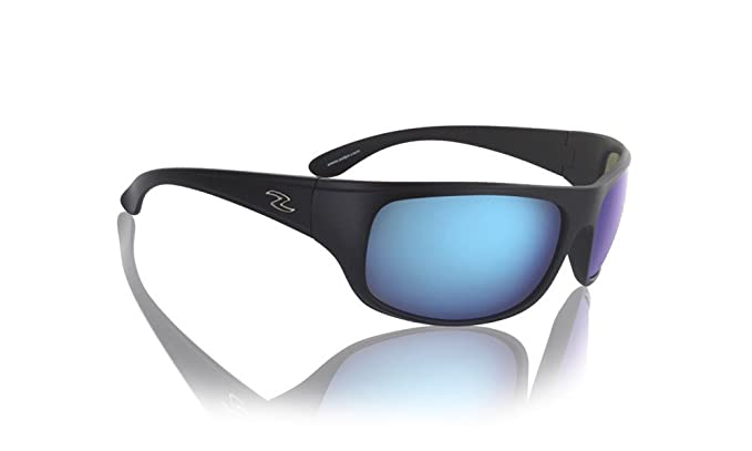 daadcb74904 Amazon.com  Zol Hit Sports UV Protection Sunglasses Black with Blue ...