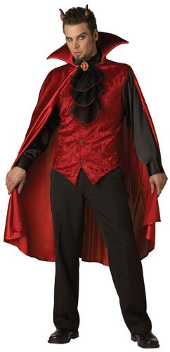 InCharacter Costumes, LLC Men's Dashing Devil Costume, Red/Black, X-Large