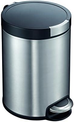 Amazon.com: EKO - Cubo de basura con pedal (5 L, acero ...