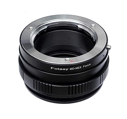 Fotasy Minolta MD Lens to Sony NEX E-Mount Adapter Ring/Macro Focusing Helicoid, Black (NEXMD_Helicoid)